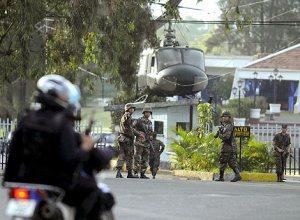 Base donde está retenido en presidente de Honduras. | Efe