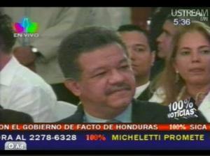 En la imagen: Leonel Fernández, presidente de la República Dominicana, en la cumbre extraordinaria de paíes centroamericanos. ©Telesur