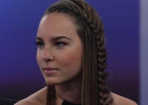 Belinda sorprendió con su nueva imagen en el noticiero de Alejandro Cacho, durante la presentación de la telenovela Camaleones (Foto: )