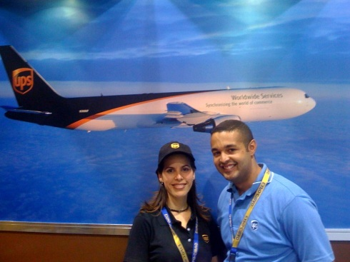 Los pilotos del Marketing de ups: Marta y Diogenes en Expo Cibao 2009